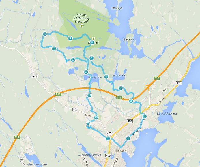 svalandsgubben kart Løypekart lang løype(15,8 km) | Olasheiløpet svalandsgubben kart